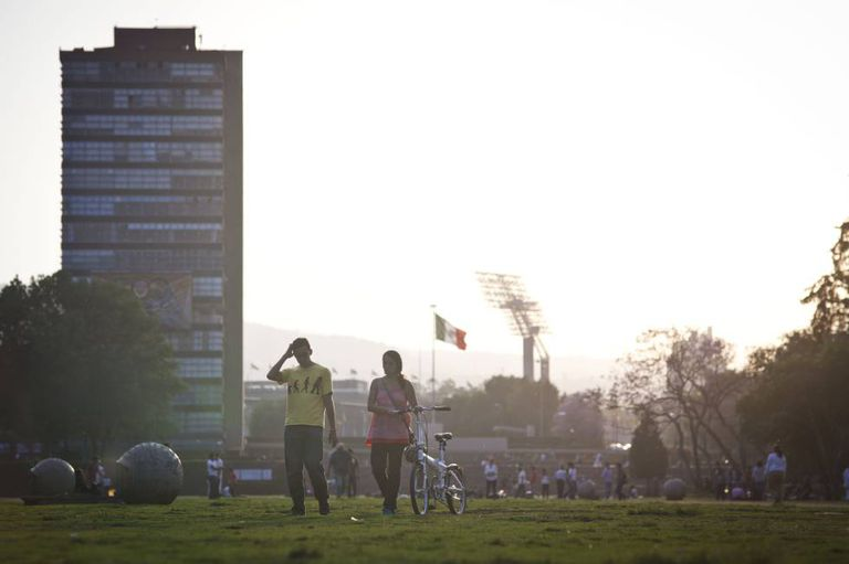 The UNAM campus in Mexico City.