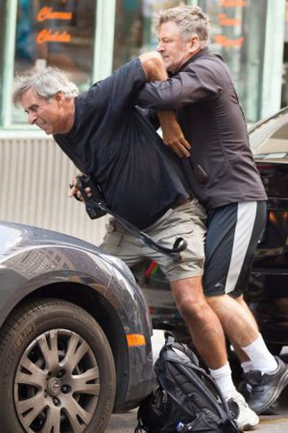 Alec Baldwin during a scuffle with a photographer in New York, 2014.