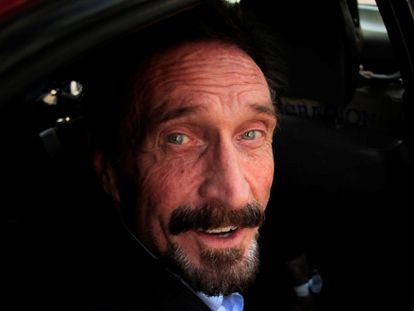 John McAfee in a file photo from 2012.