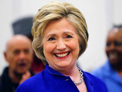 Clinton on the campaign trail in Compton, California.