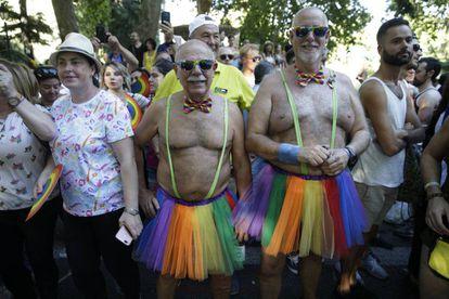 Protesters at Madrid Gay Pride.