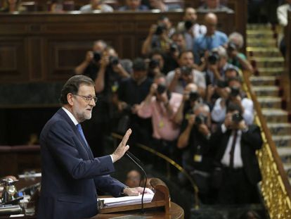 Rajoy during his speech in Congress on Tuesday.