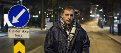 Francisco Zamora, 44, who has moved to Bergen, Norway in search of work.