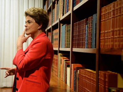 Dilma Rousseff in the Alvorada Palace in Brasilia.