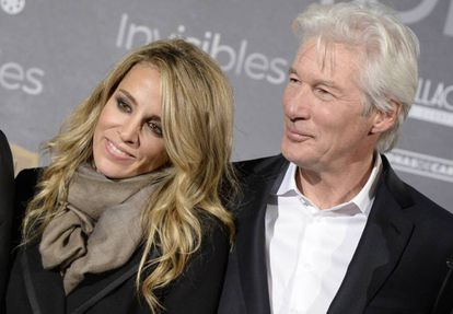 Richard Gere and Alejandra Silva at the premiere of Time Out of Mind in 2015.