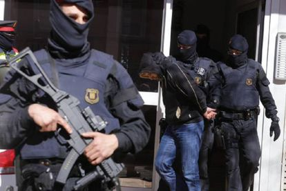 One of the suspects arrested in Operation Charon in Sabadell.