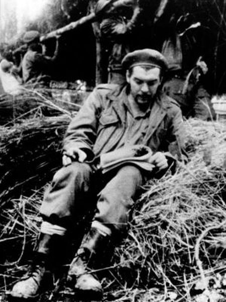 Che Guevara in the Bolivian jungle.