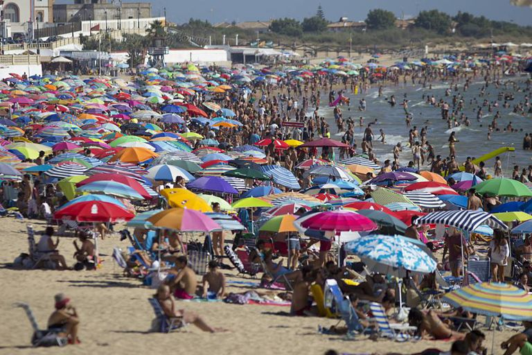 Playa de Regla, one of the most popular beaches in Cadiz province.