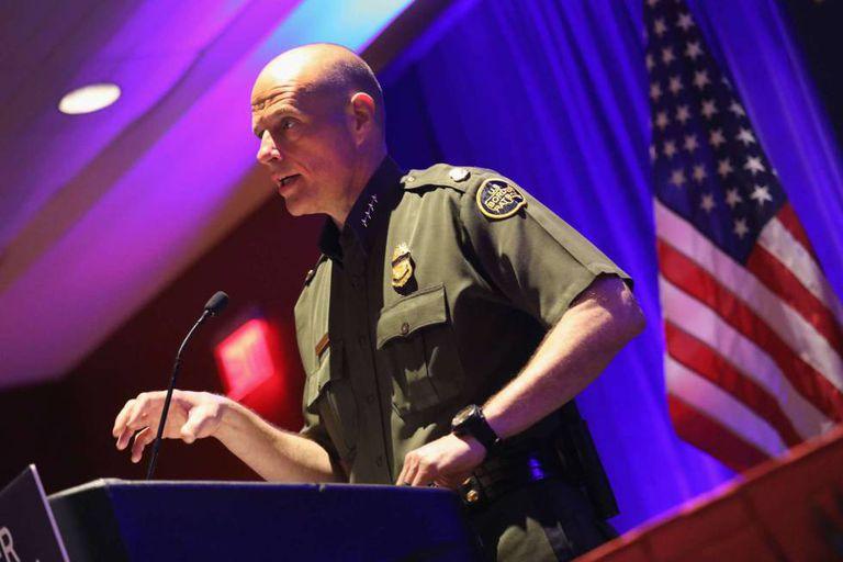 Ronald Vitiello, Chief of the CBP, speaking in San Antonio last week.