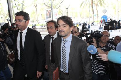 Oriol Pujol arrives in court in April 2013 to testify in the so-called ITV case.