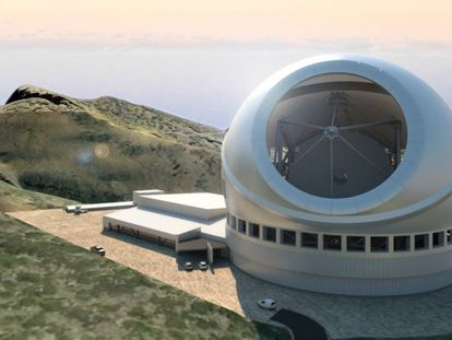 Details of the TMT project in La Palma (Spanish text).