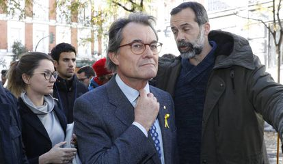 Former Catalan premier Artur Mas at the Supreme Court in Madrid.