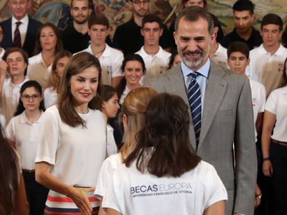The king and queen of Spain.