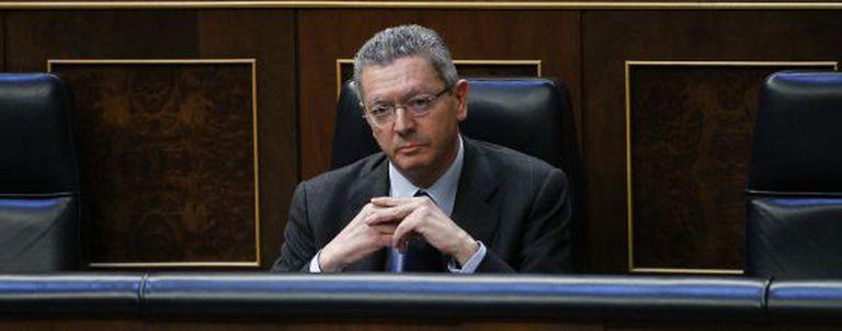 Justice Minister Alberto Ruiz-Gallardón, pictured in Congress.