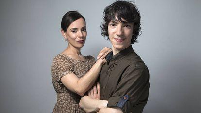 Leonel Virosta and his mother Belén Gutiérrez.