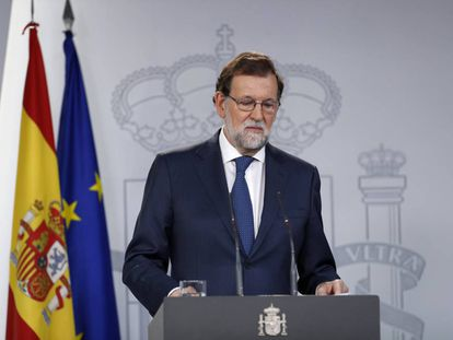 Spanish PM Mariano Rajoy at a press conference on Thursday.