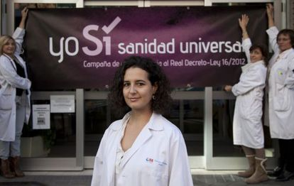Madrid doctor Mar Sacristán is still treating immigrants without residency papers.