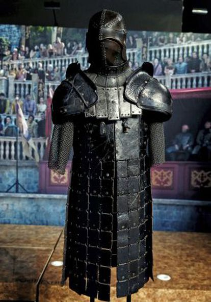 Armor on display at the 'Game of Thrones' exhibition.