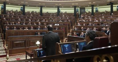Spanish Congress in session.