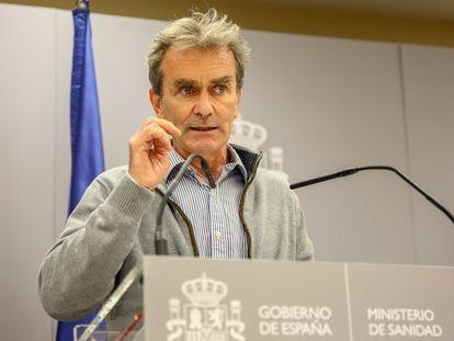 Fernando Simón during Thursday's press conference.
