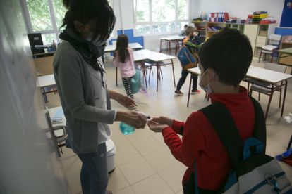 Hand sanitizer and other hygiene measures will become an increasingly important part of the school day.
