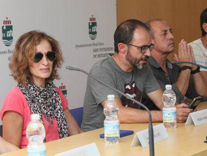 The mother, partner and father of Arancha Gutiérrez (l-r).