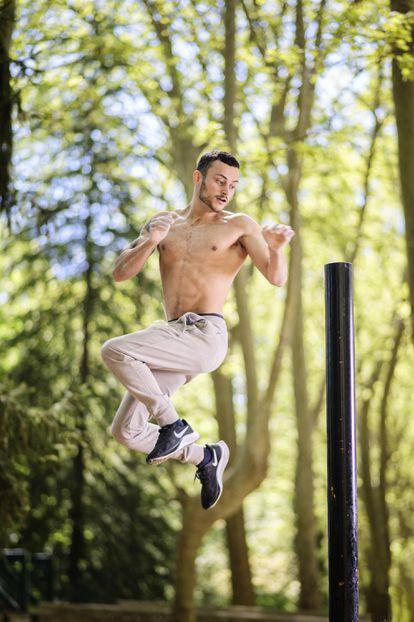 Roger Jiménez training in Sant Salvador park, in Santa Coloma de Farners, in the Spanish region of Catalonia.