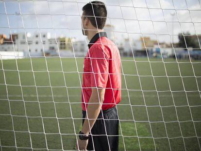 Felipe Fernández at a match in La Algaba, in Seville.