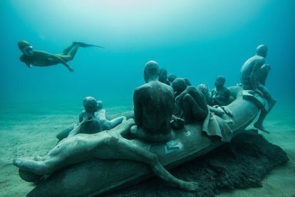 """4. """"The scuba instructors who accompany visitors have been given some artistic training so they can serve as guides,"""" says José Juan Lorenzo. """"The tour needs to be supervised, safe and to respect the creative essence of Taylor's work. The sculptures tell a story, and the guides need to know about it to communicate it correctly."""""""