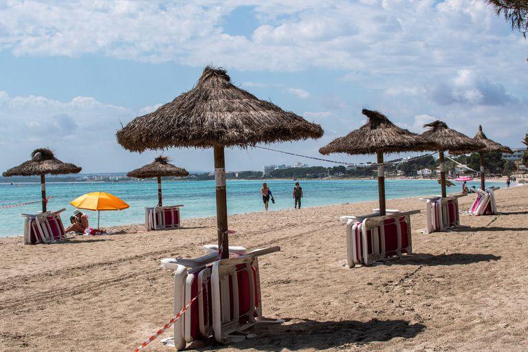 Alcudia beach in the Balearic island of Mallorca last Sunday.