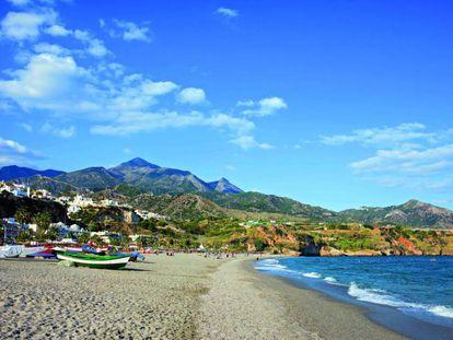 Burriana Beach in Spain's Malaga province.