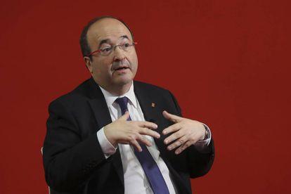 Miquel Iceta during the interview