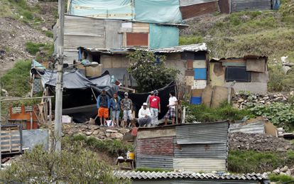 A neighborhood in Bogotá, Colombia, in a 2020 file photo.