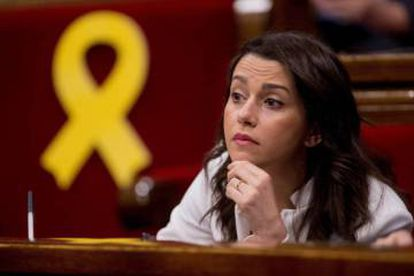 Inés Arrimadas in parliament on Saturday.