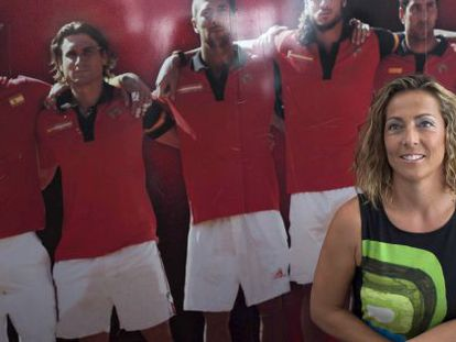 Spain's new Davis Cup captain, Gala León.