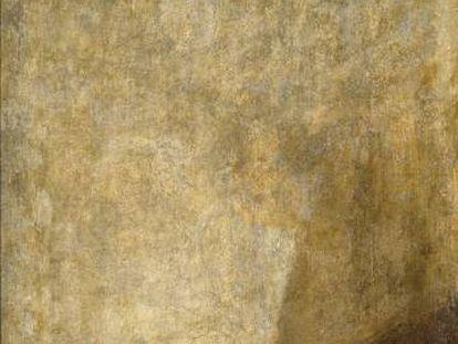 Goya's 'El perro,' from the Prado Museum collection.