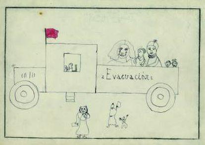 Drawing by 10-year-old Margarita García.
