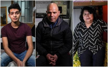 Andrés Torres, Mustafa Labasse and Neira Adelina Montero