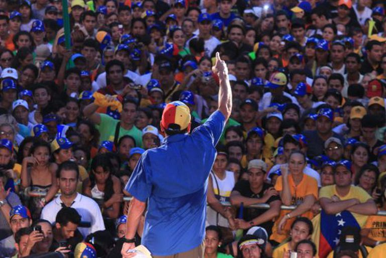 Opposition leader Henrique Capriles during an event on Monday.