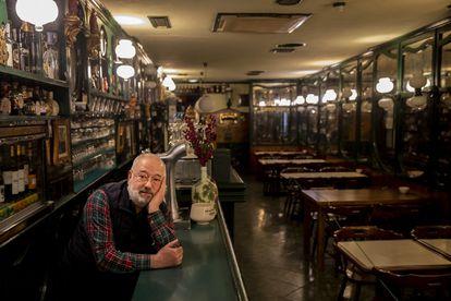 Agustín Ares, manager of Bar Paradiso in Santiago de Compostela.