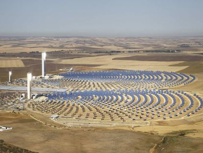 The Solúcar solar energy park near Seville.