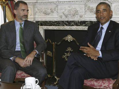Felipe VI and Barack Obama in New York.