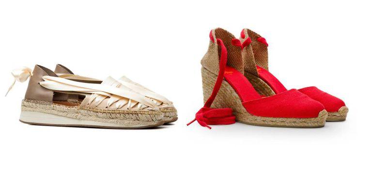 Naguisa's SOC espadrille, and to the right, a design from Castañer.