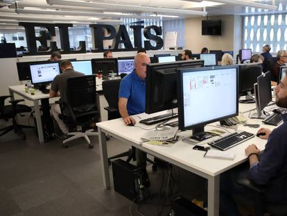 The Madrid newsroom of EL PAÍS.