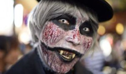A Halloween reveler in Tokyo.