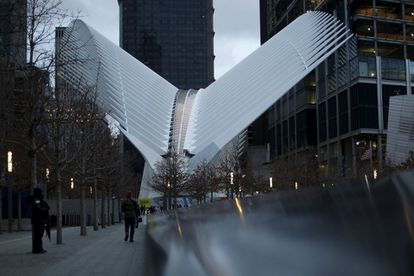 The exterior of the Oculus, in New York.