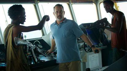 Film piracy: Tom Hanks (c) in Captain Phillips.