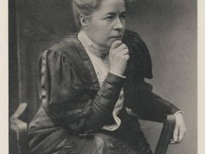 The Swedish novelist, Selma Lagerlöf, in 1909, the year she received the Nobel Prize for Literature.
