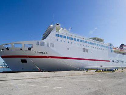 The 'Sorolla' ferry run by Transmediterranea.