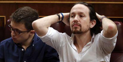 Podemos leader Pablo Iglesias during the debate on Wednesday.